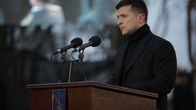 Photo of President and his wife attended a ceremony honoring the victims of the Holodomor in Ukraine